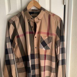 Authentic Men's Tan Burberry Shirt